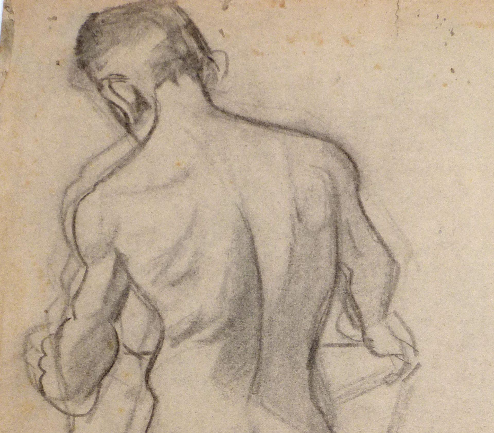 Aktstudie eines jungen Mannes Detail