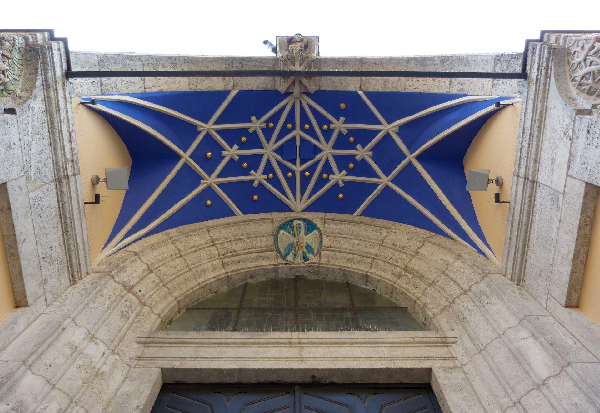 St. Anton Eingangshalle, Netzgewölbe