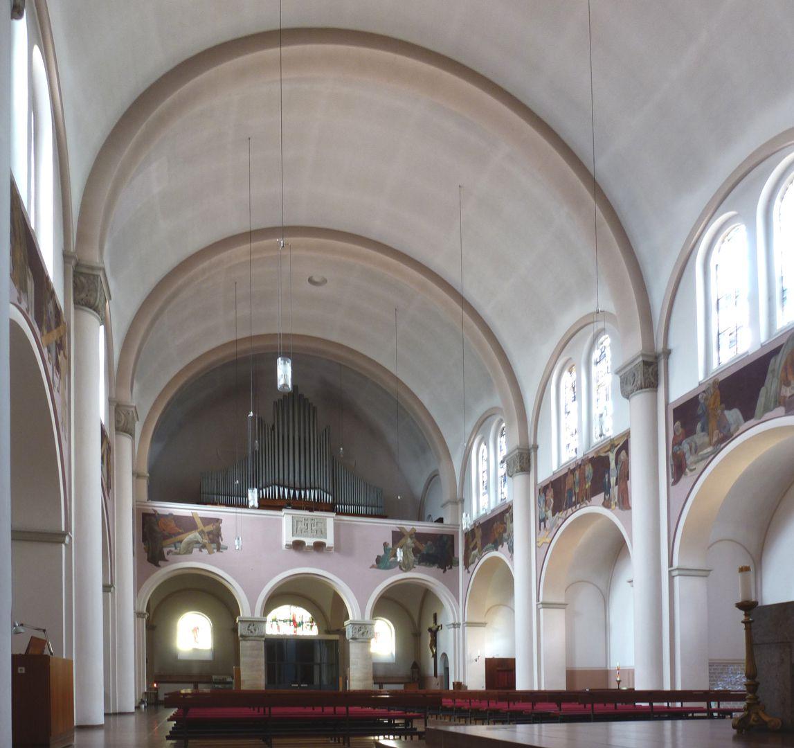 St. Anton Blick auf die Orgelempore