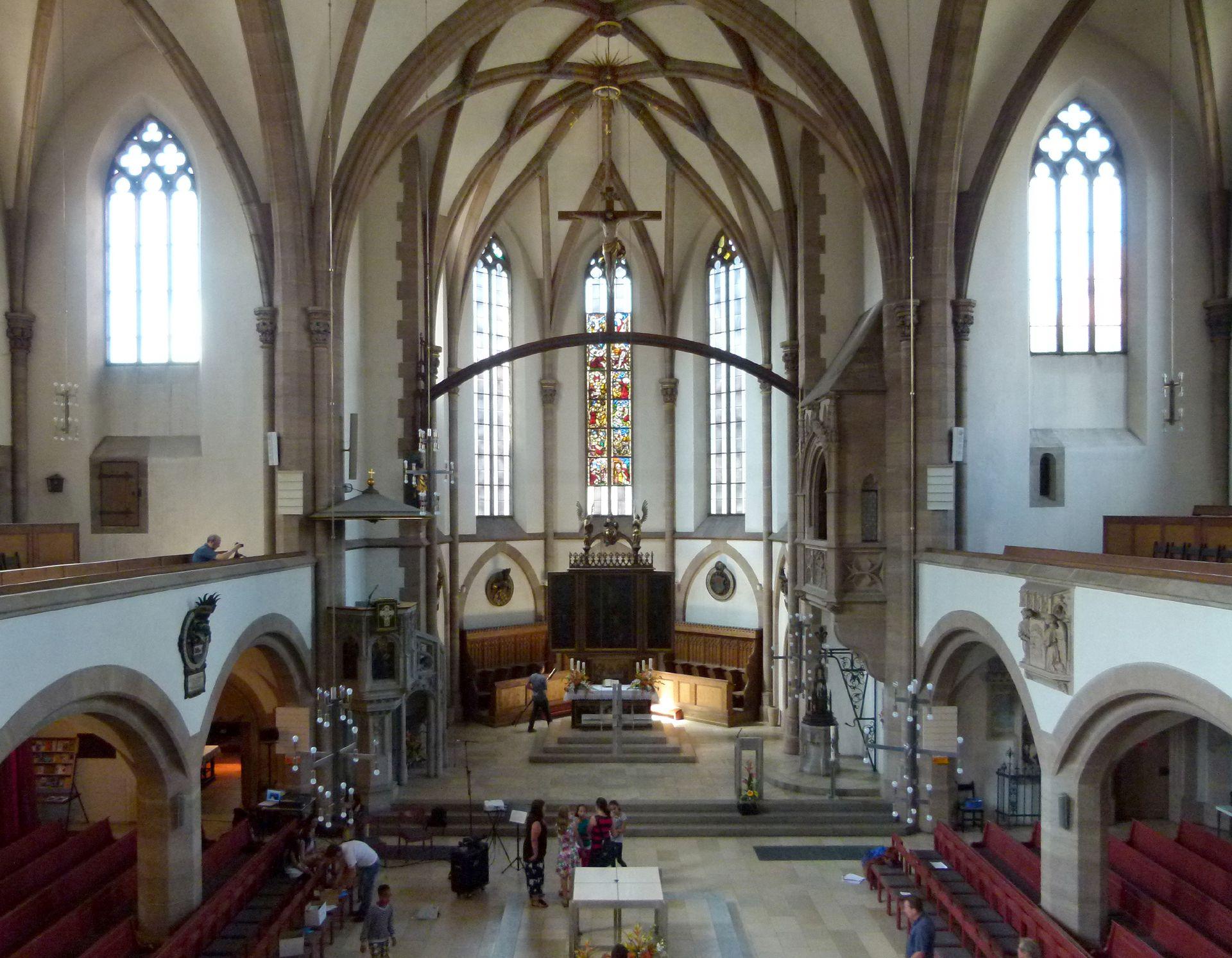 St. Peter Innenraum, Blick von O nach W