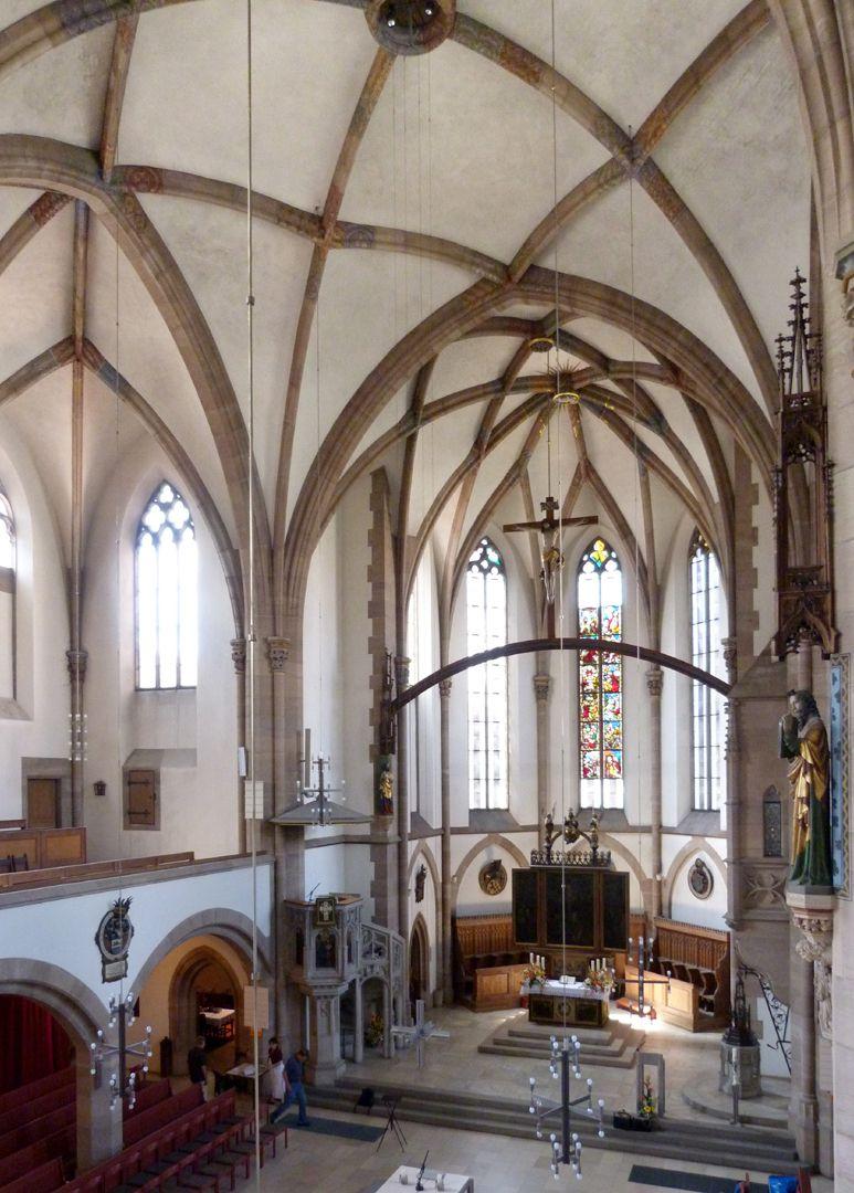 St. Peter Innenraum, Schrägansicht nach SW