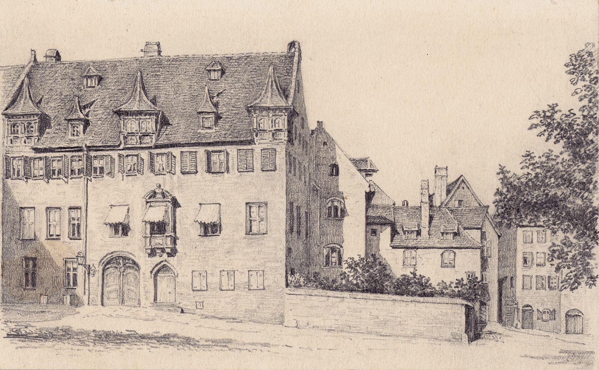Pfarrhaus von St. Egidien mit Pfarrgarten Nürnberg, Pfarrhaus von St. Egidien mit Pfarrgarten