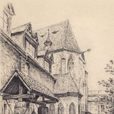 Karthäuserkirche und -kapelle, mit Ziehbrunnen