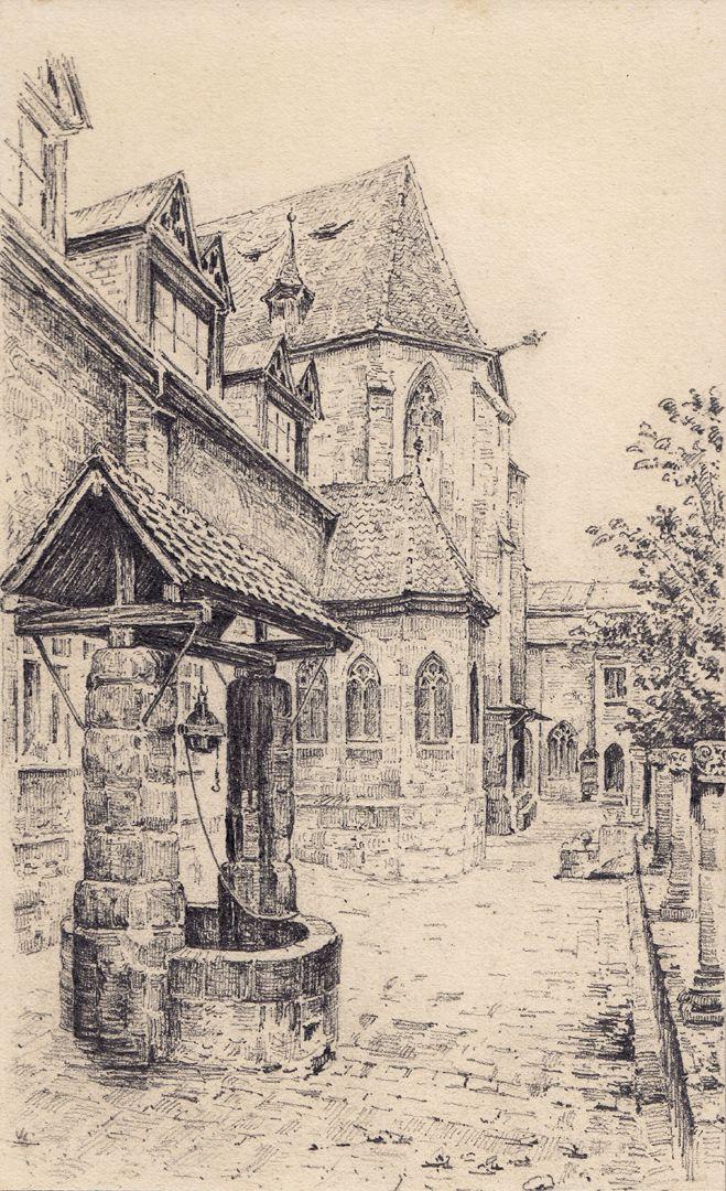 Karthäuserkirche und -kapelle, mit Ziehbrunnen Karthäuserkirche und -kapelle, mit Ziehbrunnen