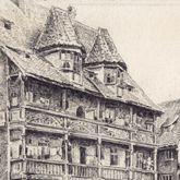 Goldenes Haus und Pegnitz an der Insel Schütt