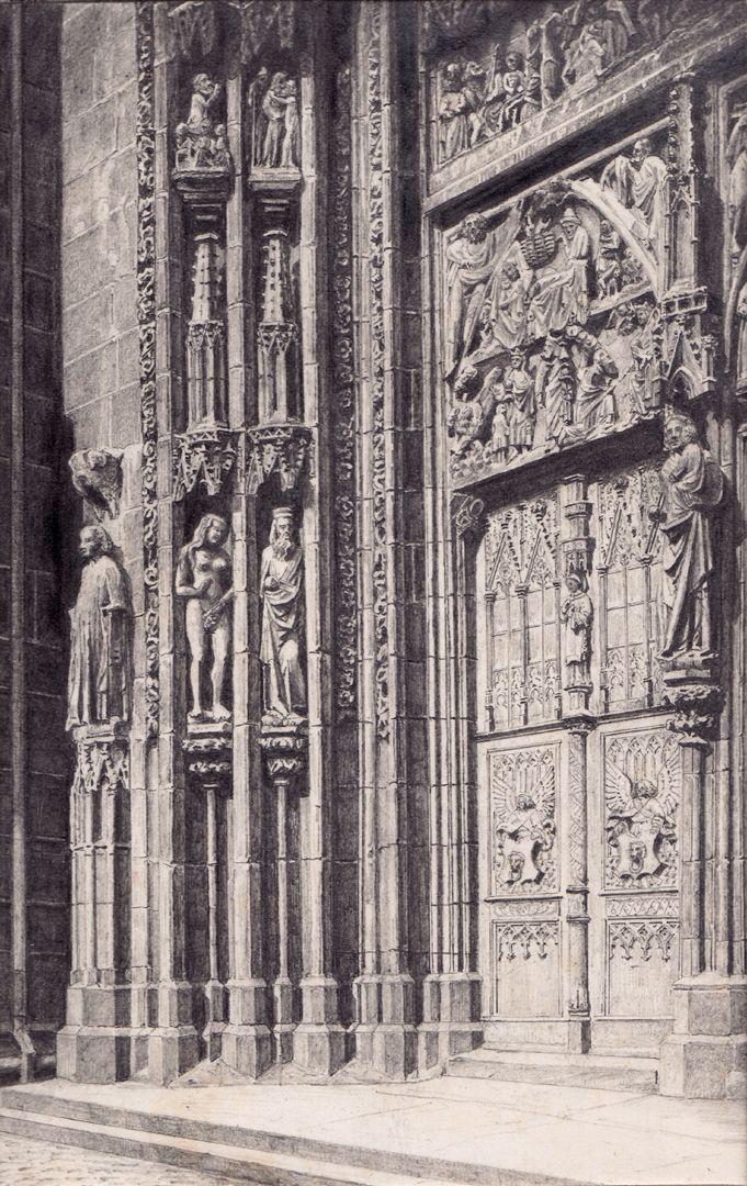 Nördliche Tür des Hauptportals der Lorenzkirche Nördliche Tür des Hauptportals der Lorenzkirche