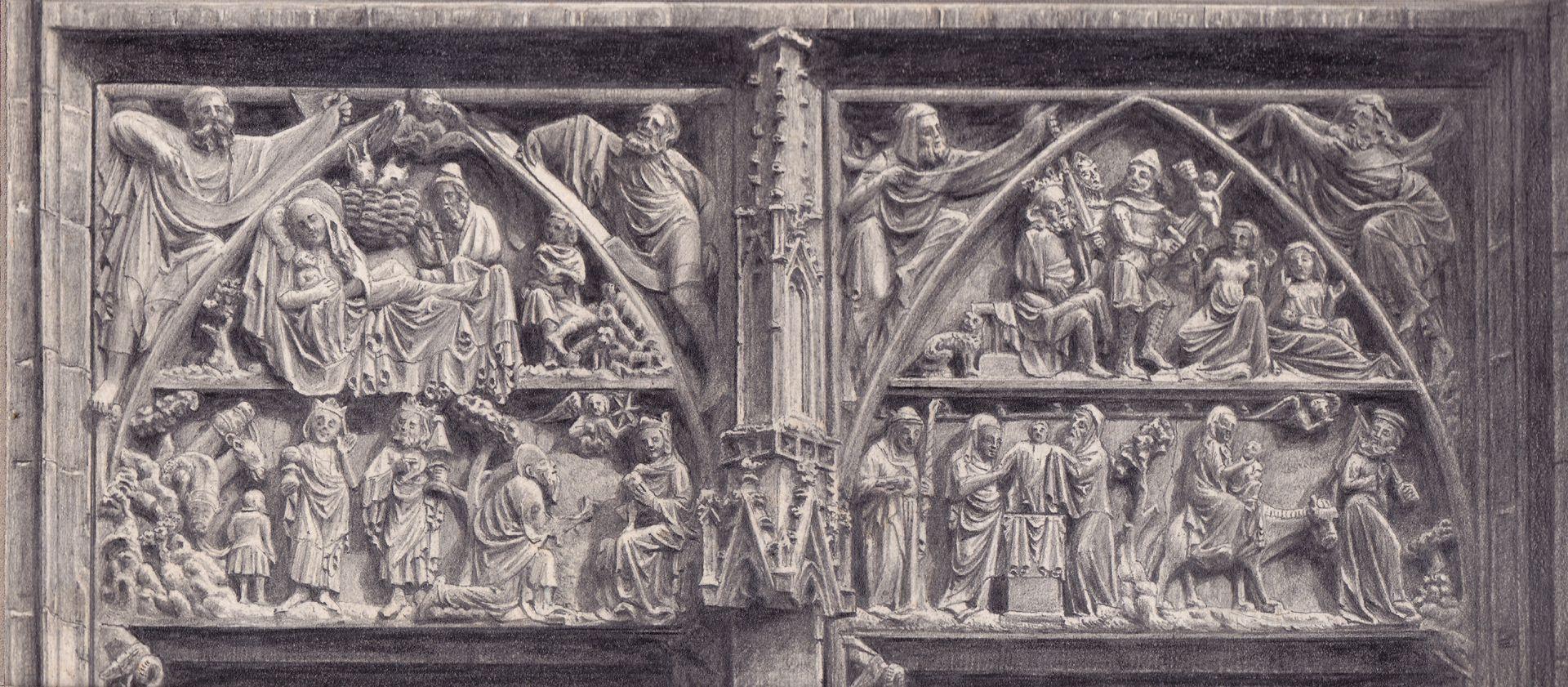 St. Lorenz, Tympanonregister des Hauptportals St. Lorenz, Tympanonregister des Hauptportals