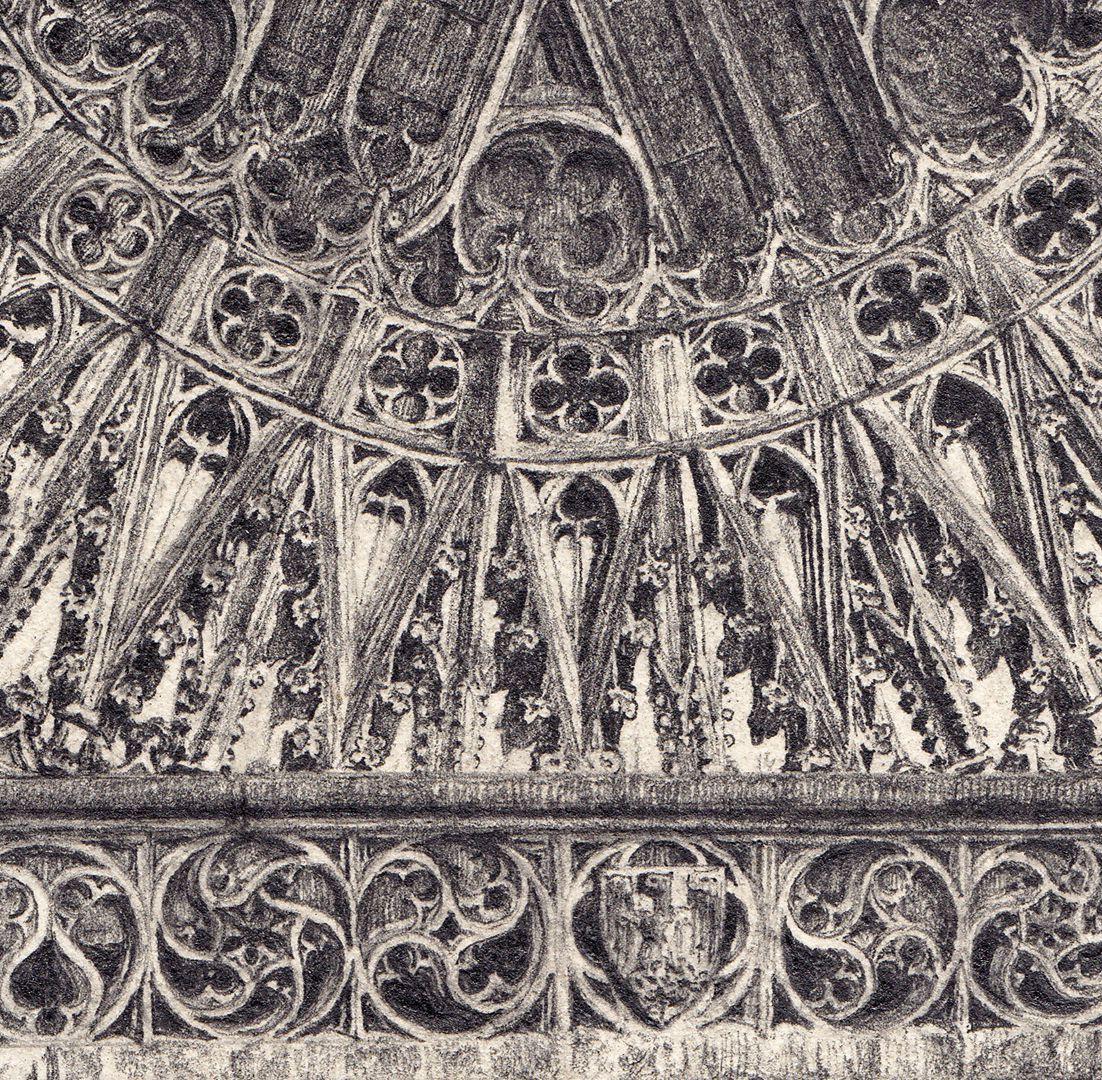 Rosette der Lorenzkirche Detailansicht der unteren Hälfte