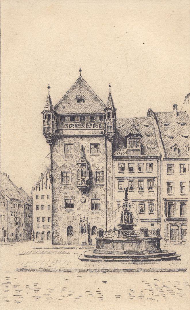 Tugendbrunnen und Nassauer Haus Tugendbrunnen und Nassauer Haus