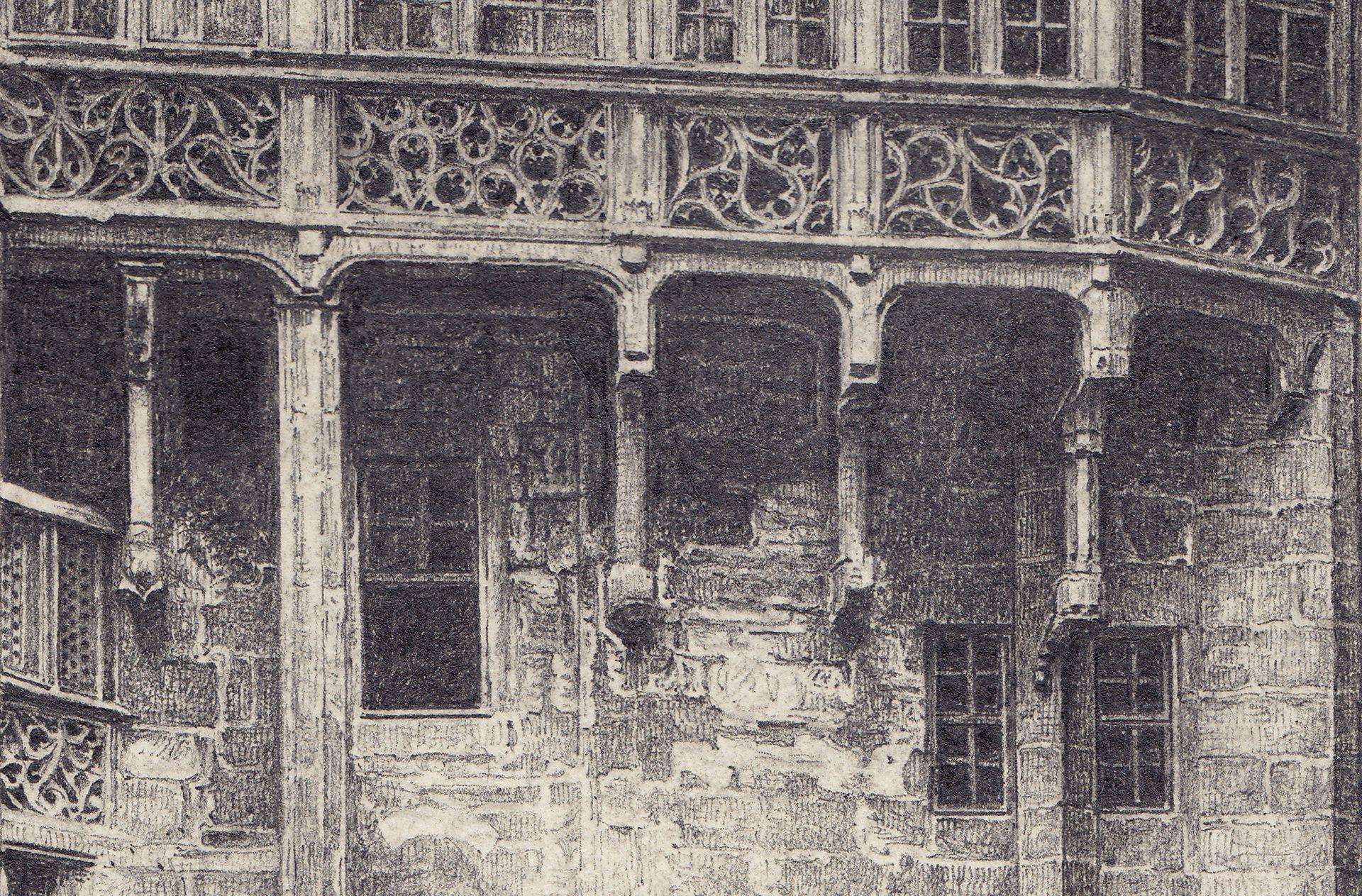 Großer Rathaushof, Hofgalerie von Hans Beheim Detail