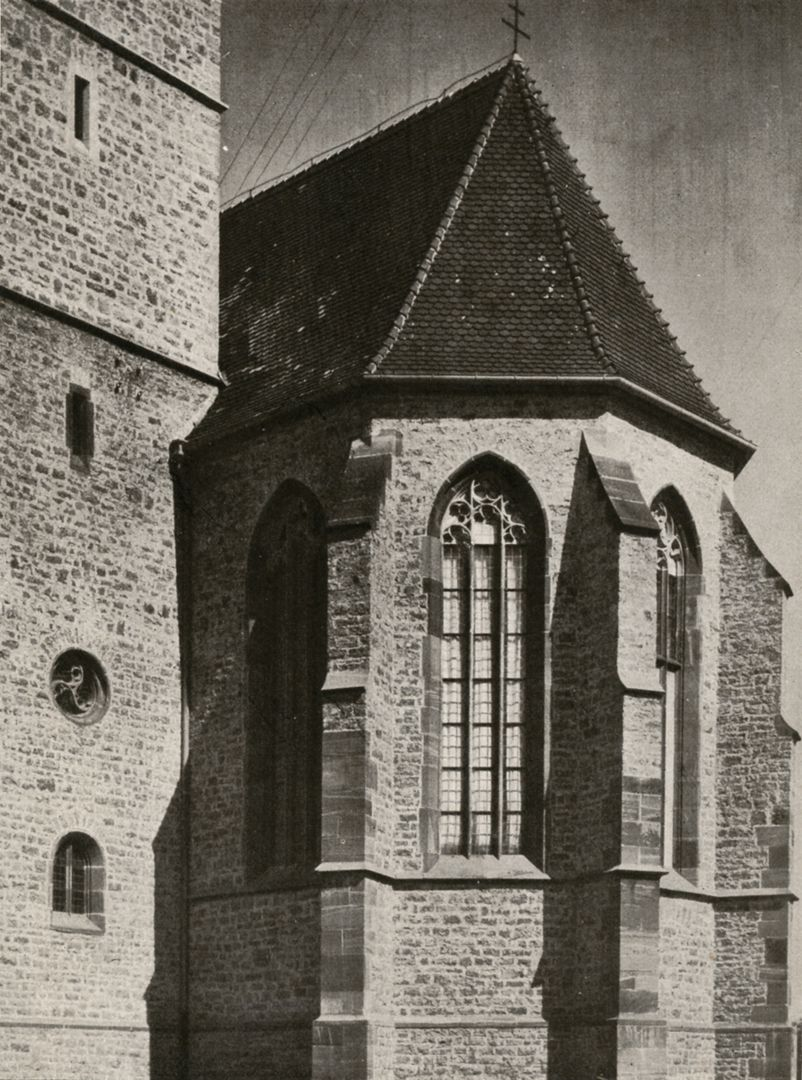 St. Mauritius Apsis / Foto von 1929 aus: Otto Schulz, Friedrich Ernst Hübsch Verlag