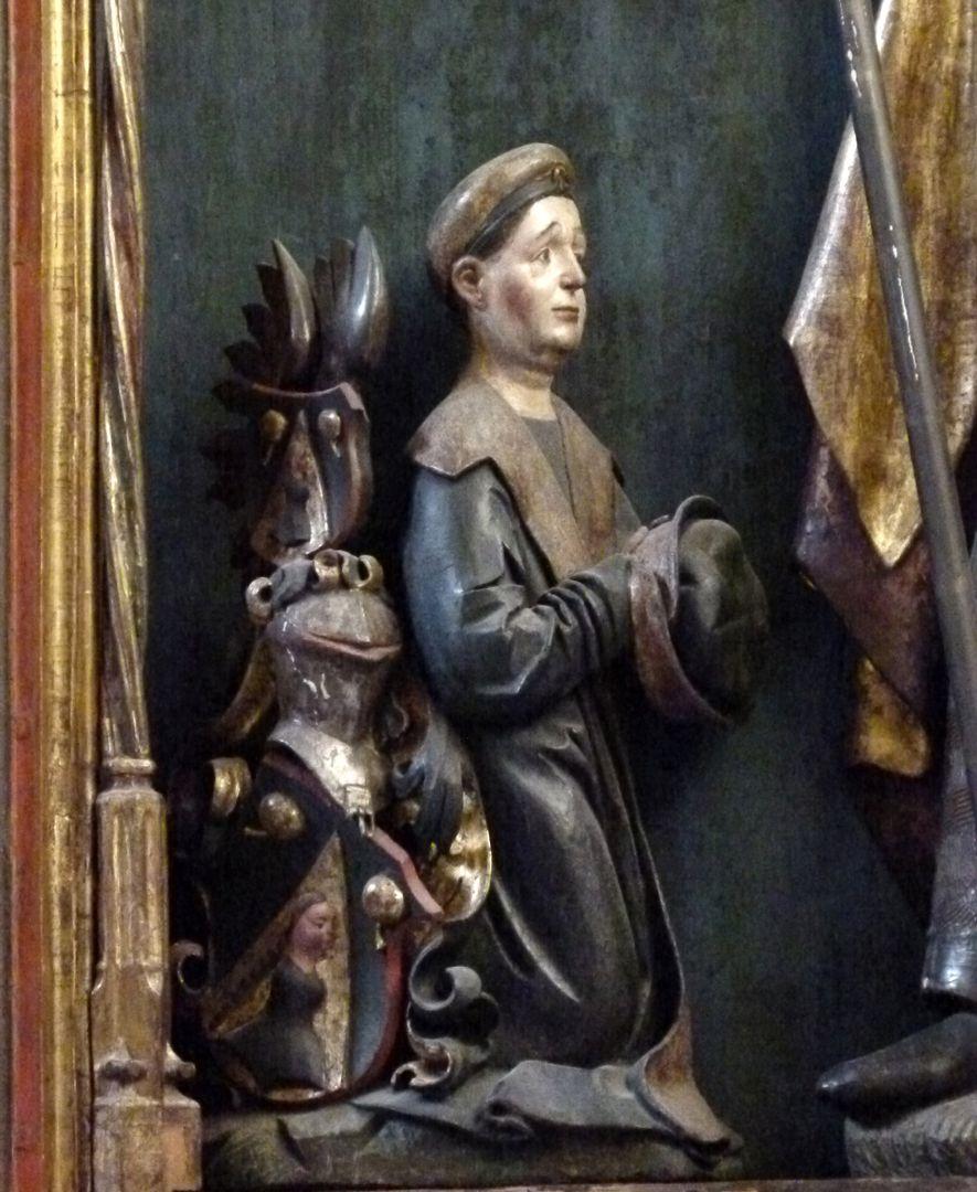 Sebaldus  Altar Schrein, kniender Sebald Schreyer