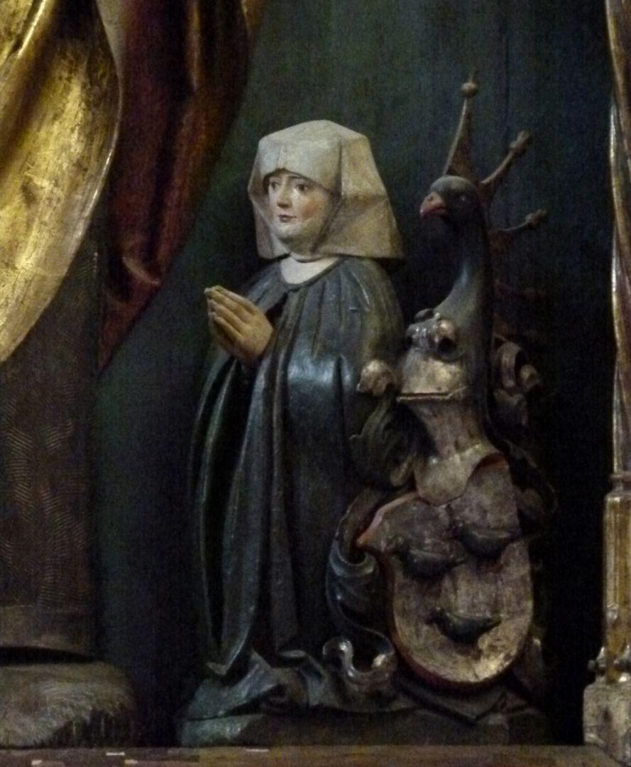 Sebaldus  Altar Schrein, kniende Margarethe Kammermeister
