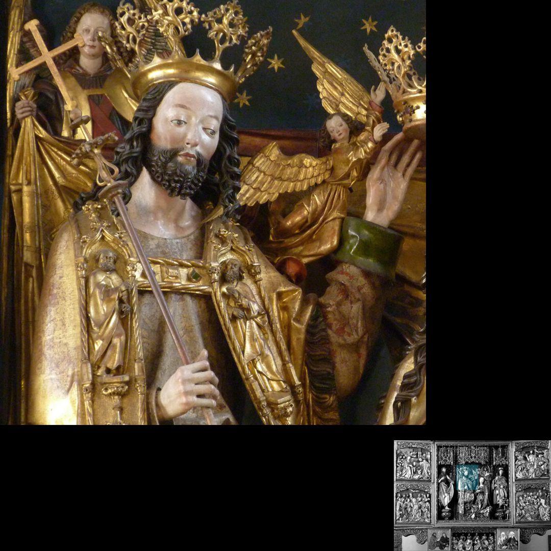 Hochaltar (Schwabach) Der krönende Christus, Oberkörper