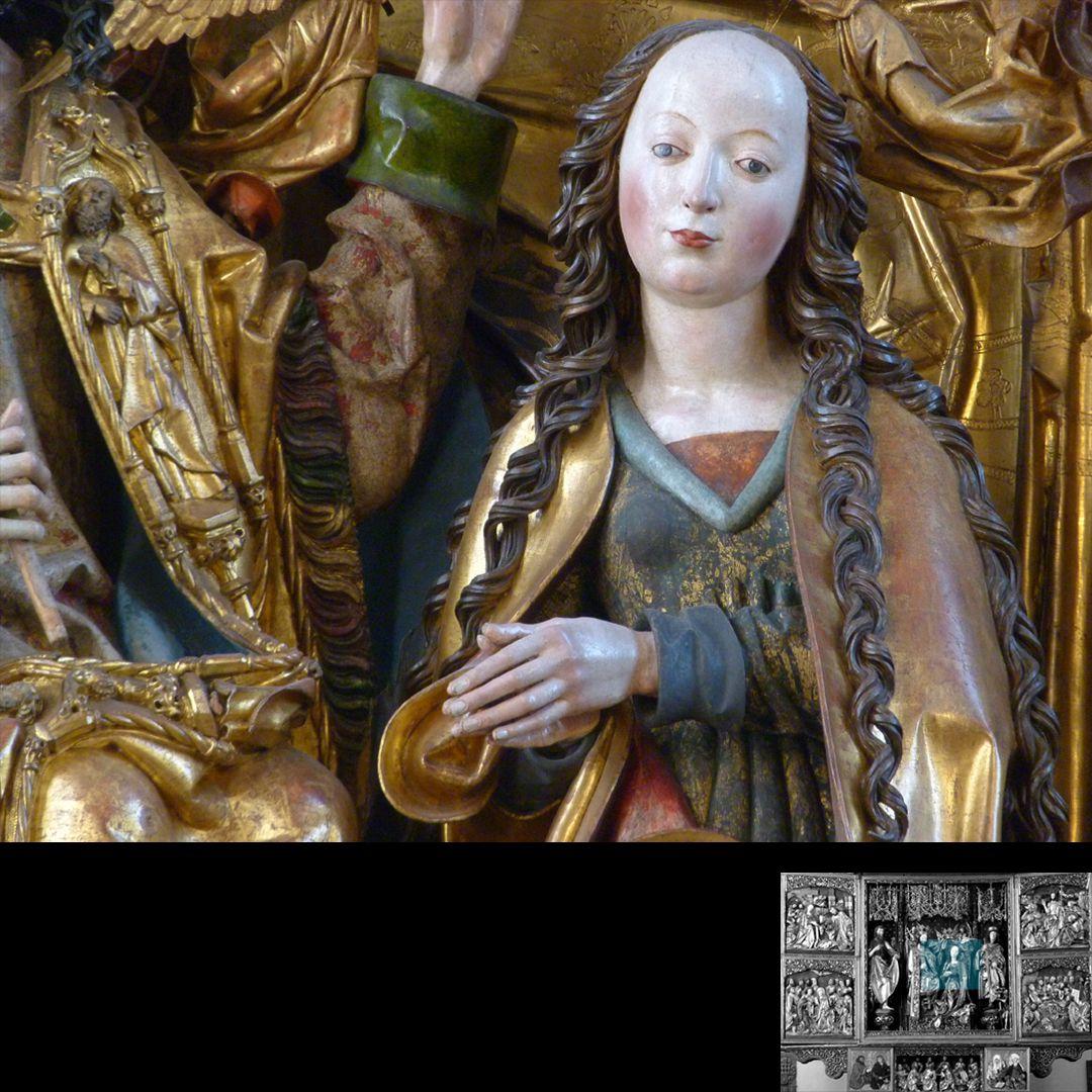 Hochaltar (Schwabach) Detail der Maria