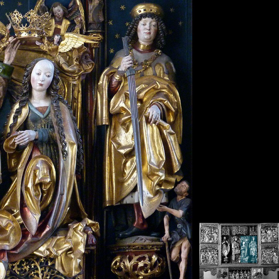 Hochaltar (Schwabach) Maria mit dem heiligen Martin