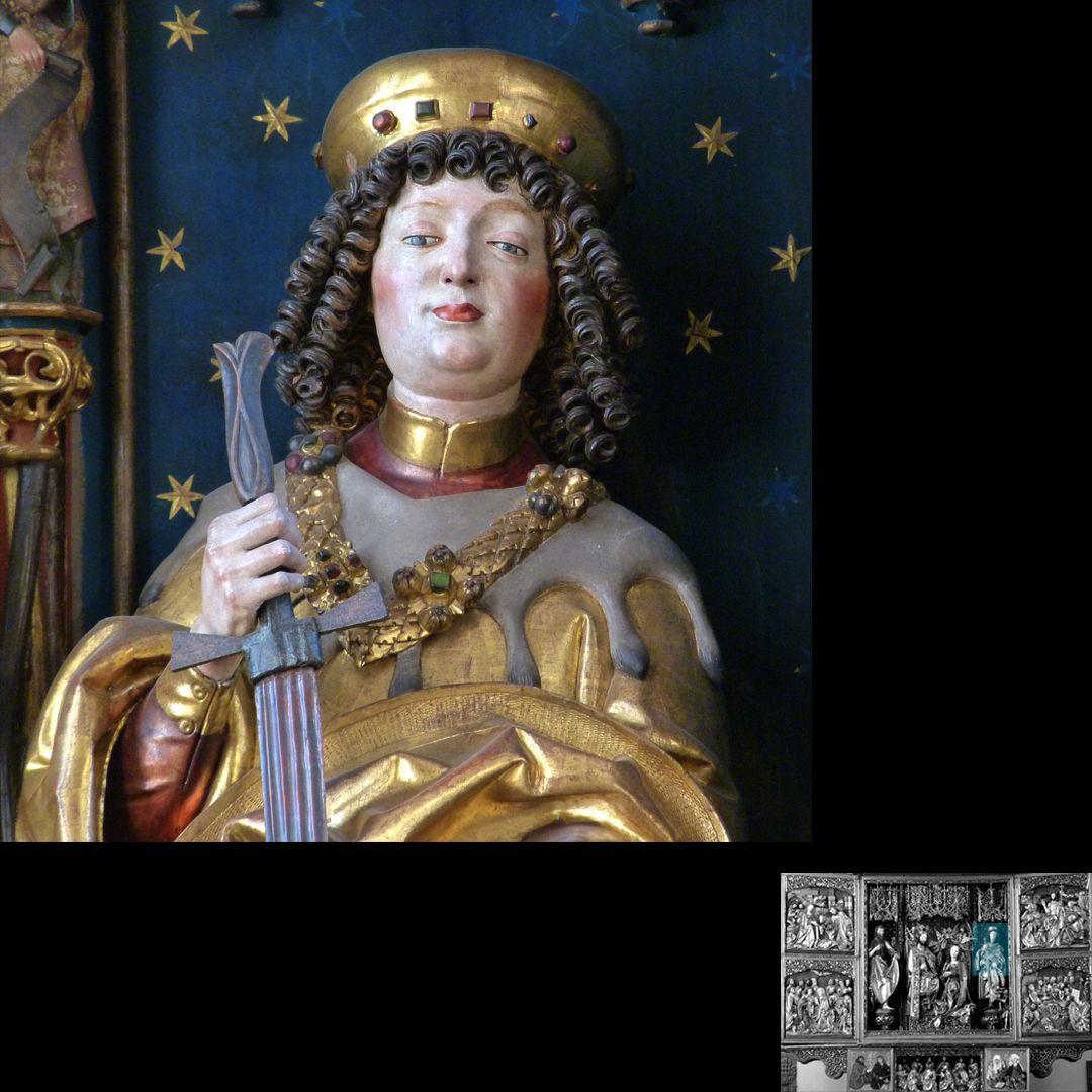 Hochaltar (Schwabach) Büste des heiligen Martin