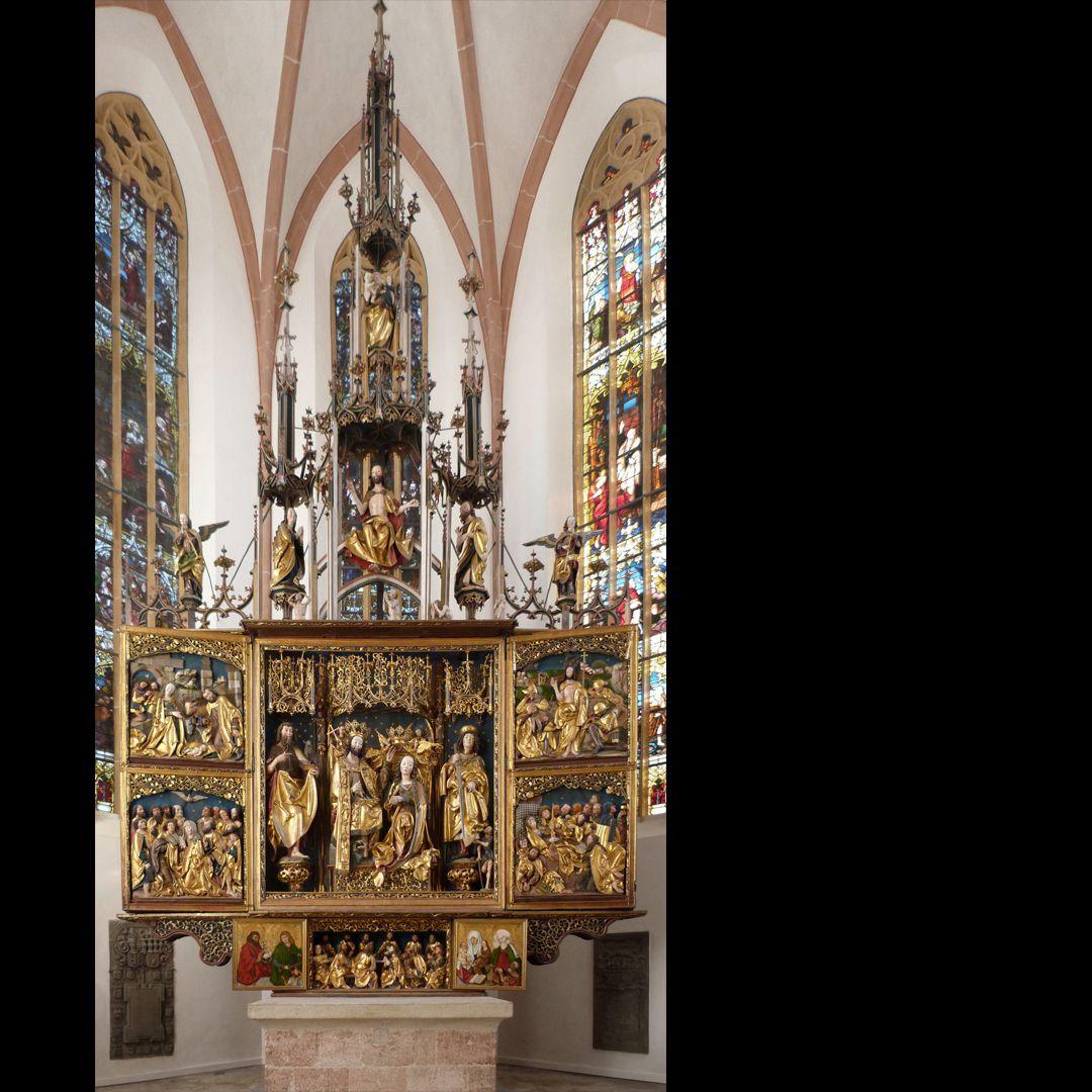 Hochaltar (Schwabach) Gesamtansicht des 15m hohen Altars