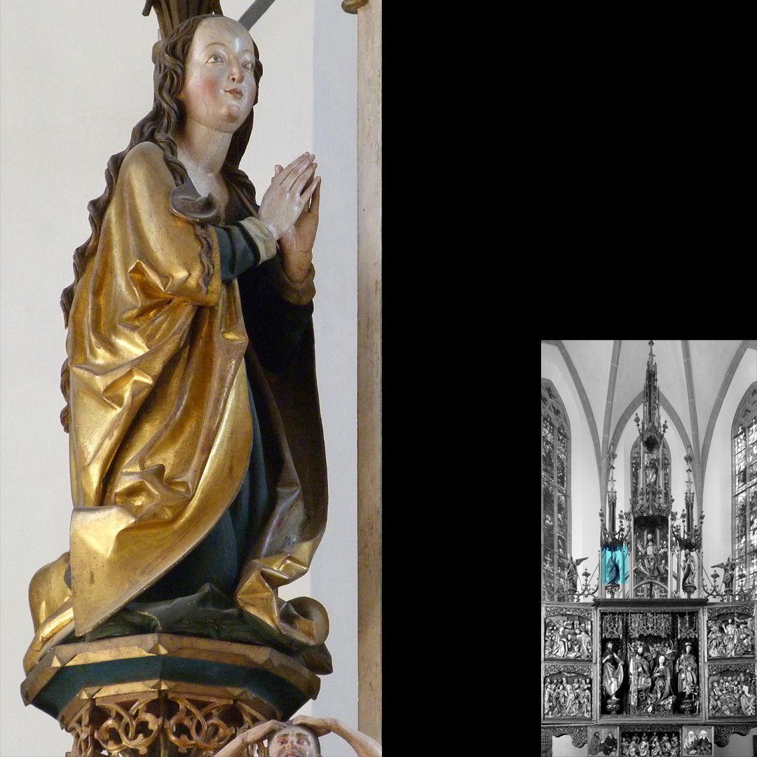 Hochaltar (Schwabach) Gesprenge, Maria