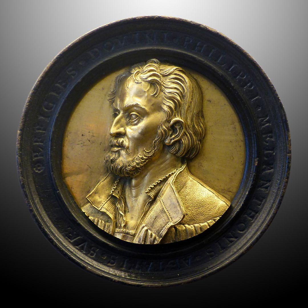 Bildnismedaillon des Philipp Melanchthon