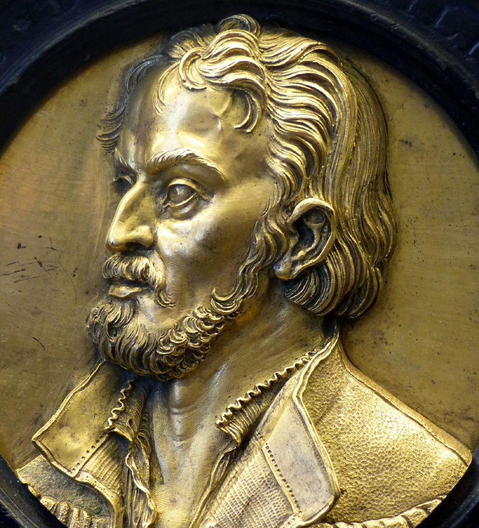 Bildnismedaillon des Philipp Melanchthon Detail
