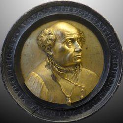 Bildnismedaillon des Theophrast von Hohenheim, gen. Paracelsus