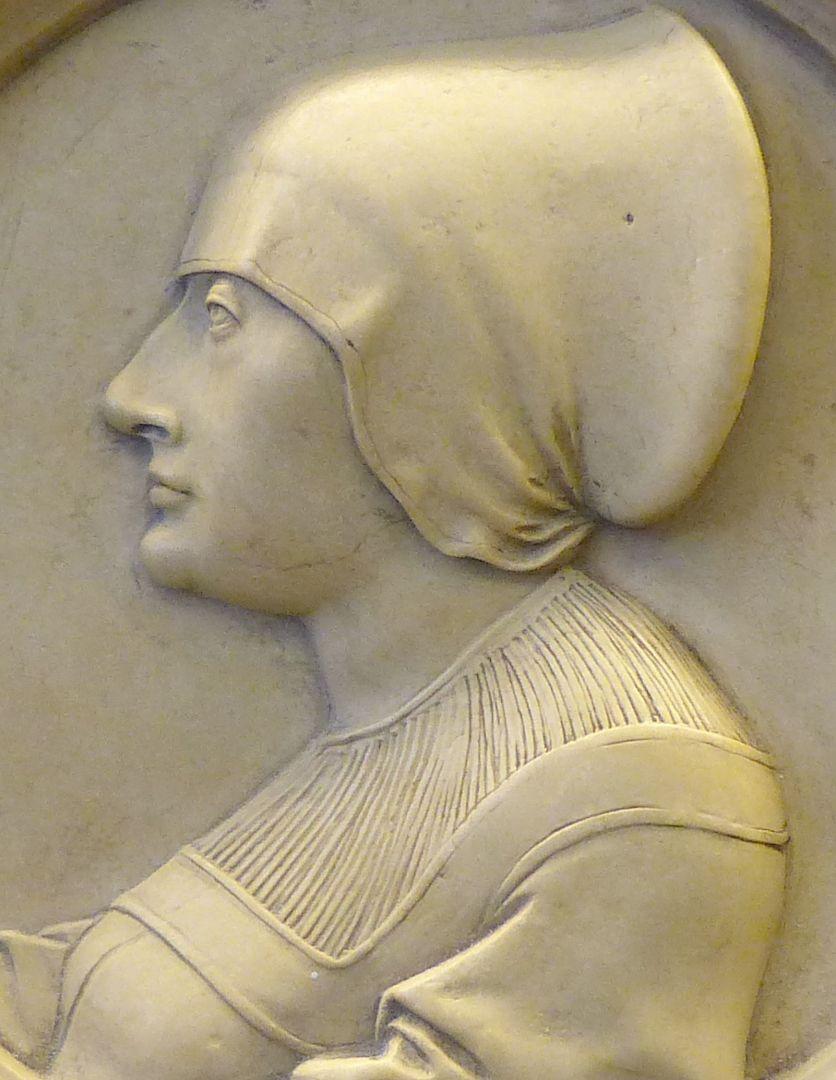 Bildnis einer Unbekannten im Profil Detailansicht