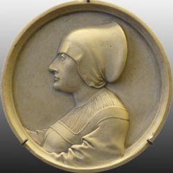 Bildnis einer Unbekannten im Profil