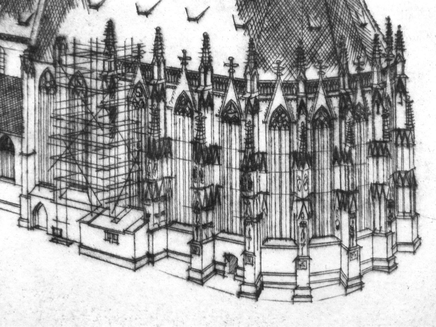 Sankt Sebalduskirche in Nürnberg, 600 Jahre Hallenchor, 1379 - 1979 Chor von St. Sebald