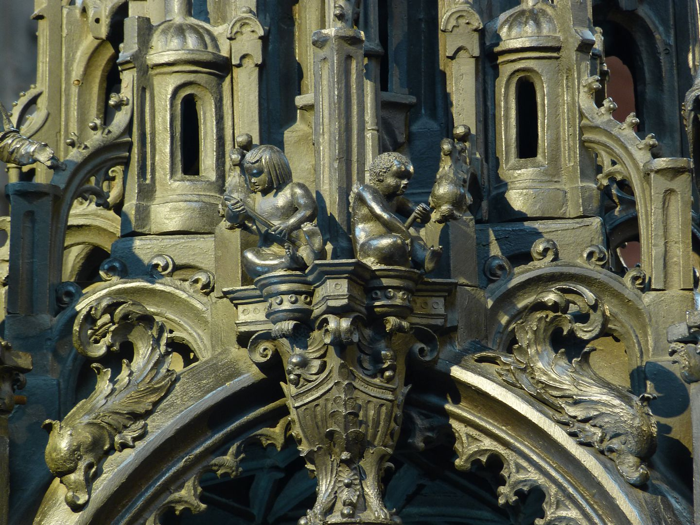 Sebaldusgrab Baldachin, Detail Nordseite
