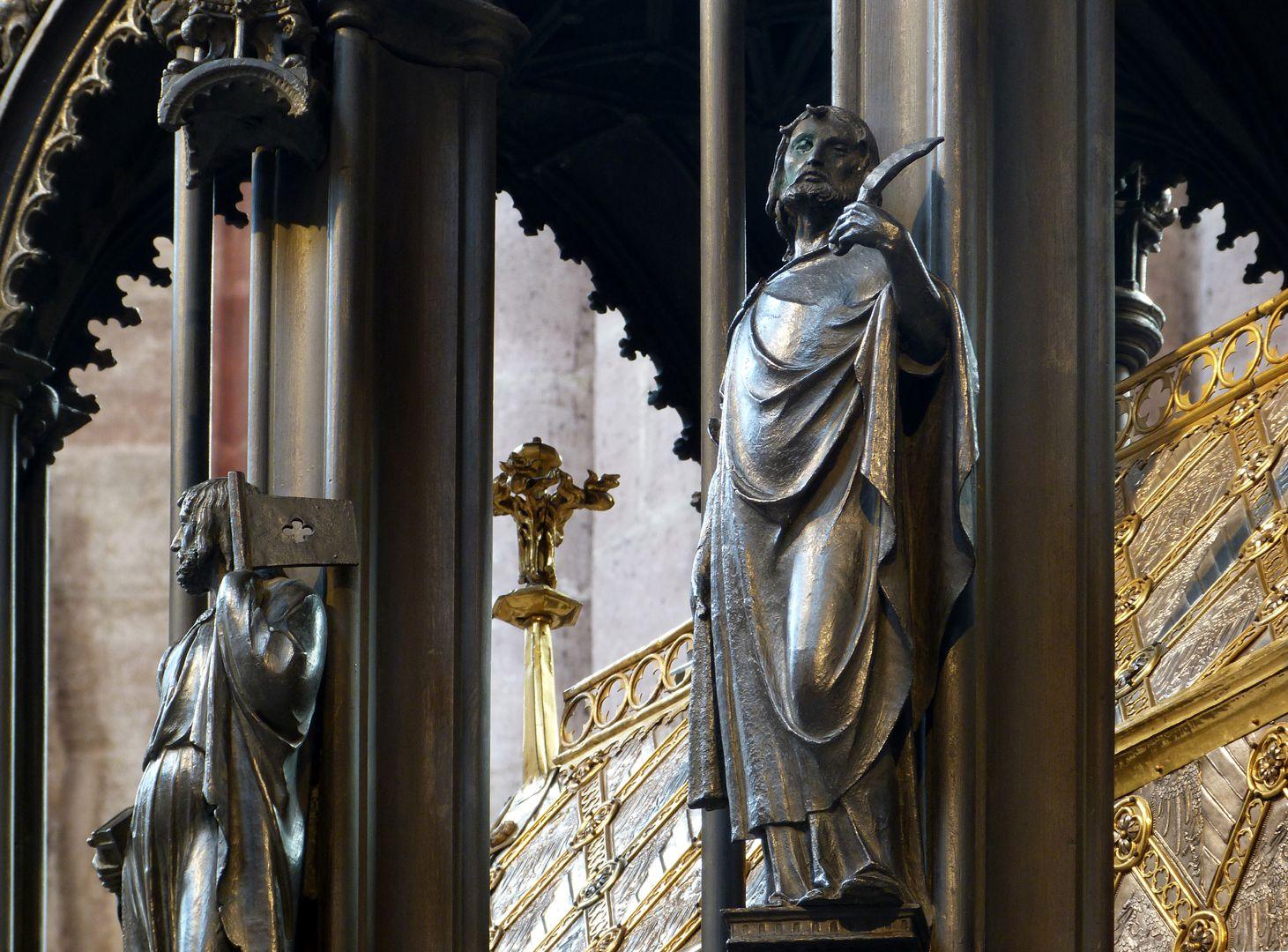 Sebaldusgrab (Nordseite) Jakobus d.J. und Bartholomäus, Untersicht