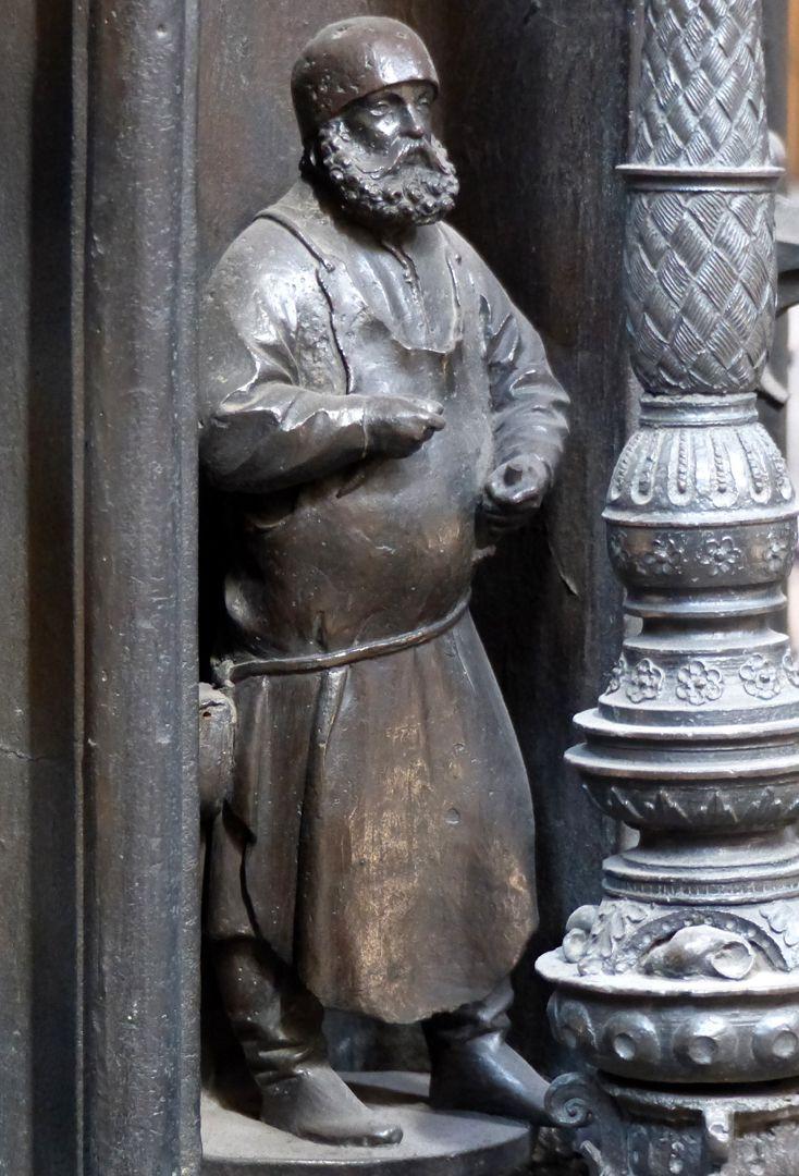 Sebaldusgrab (Ostseite) Selbstbildnis des Peter Vischer d.Ä.