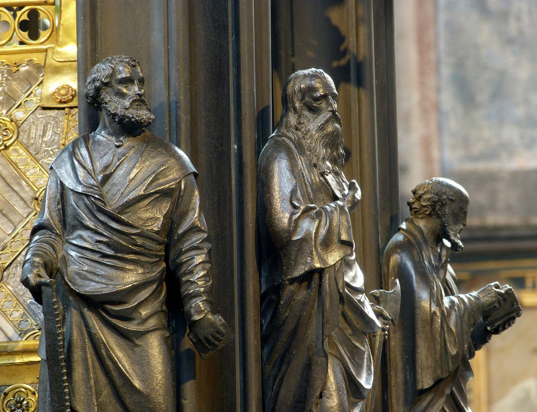 Sebaldusgrab (Westseite) Simon, Matthäus und Thaddäus