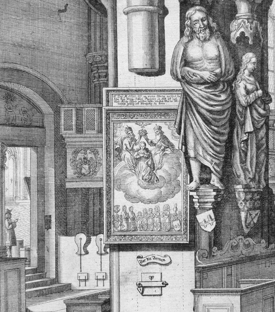 """""""Urbis Norimbergensis Insigniorum Templorum …"""" St. Sebald linke Bildhälfte, Detailansicht"""