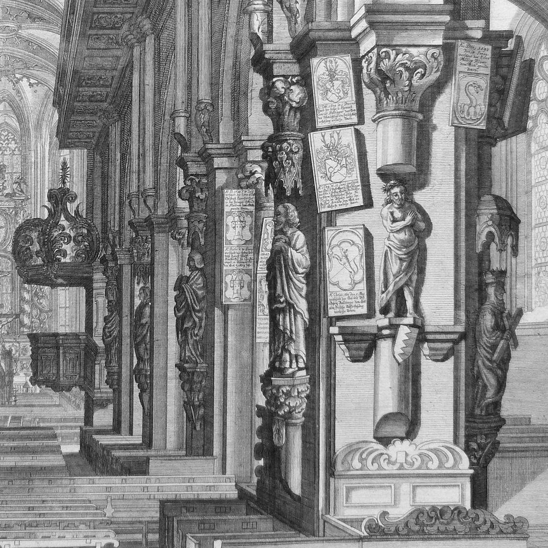 """""""Urbis Norimbergensis Insigniorum Templorum …"""" St. Sebald rechte Pfeilerreihe"""