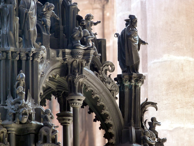 Sebaldusgrab (Westseite) Baldachin mit Propheten der Südwestecke
