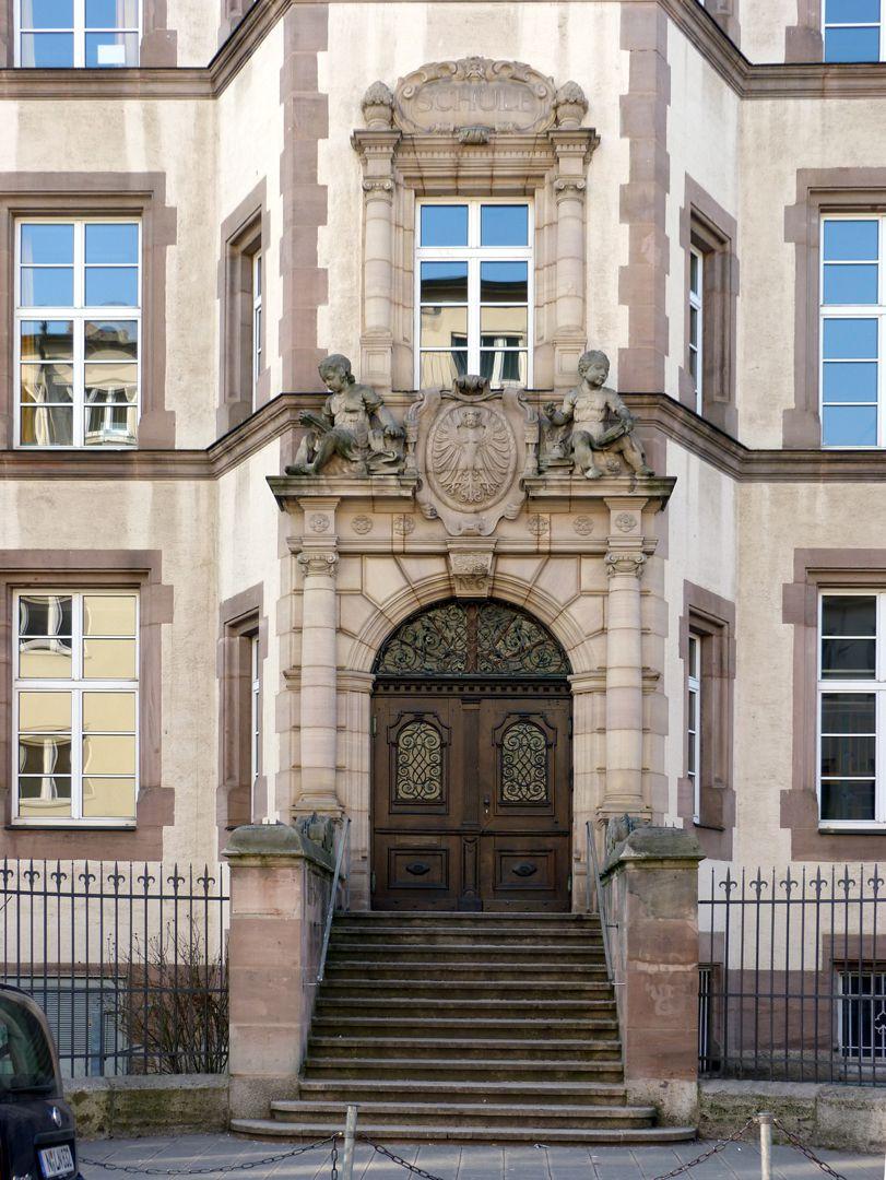 Johann-Daniel-Preißler-Schule Haupteingang zur Preißlerstraße