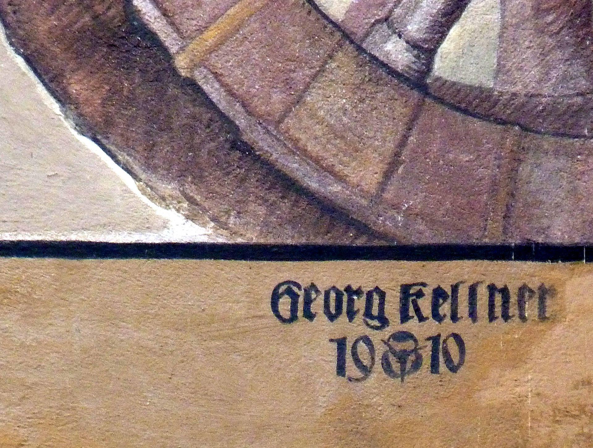 Kaufmannszug Signatur von Georg Kellner am Zugende