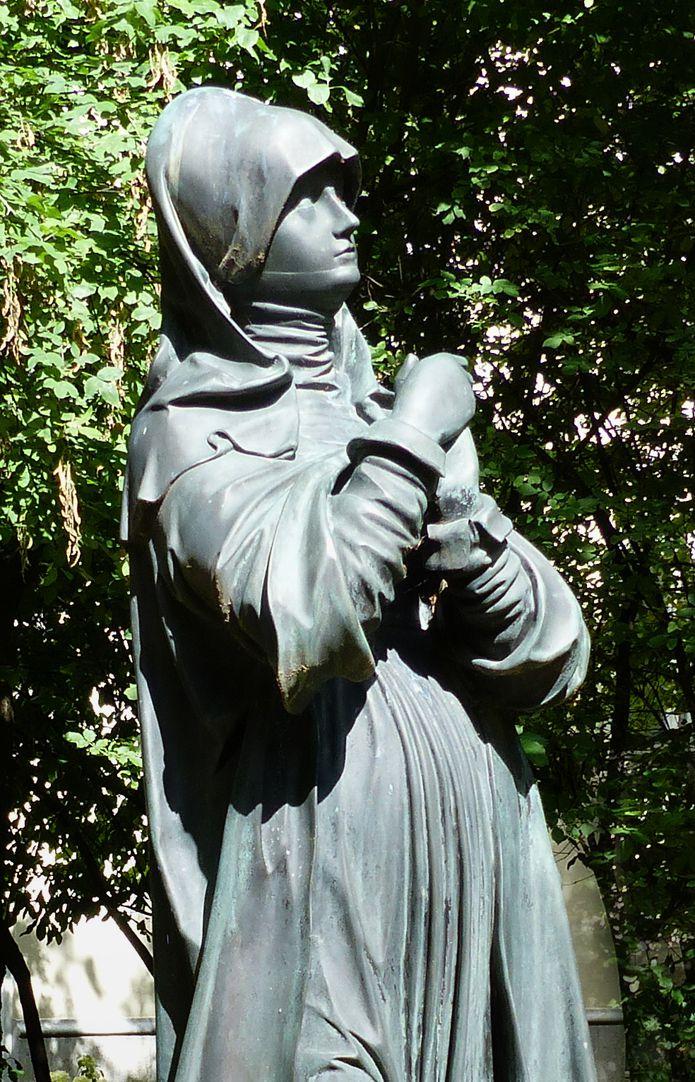 sog. Nürnberger Madonna Detail der oberen Figur