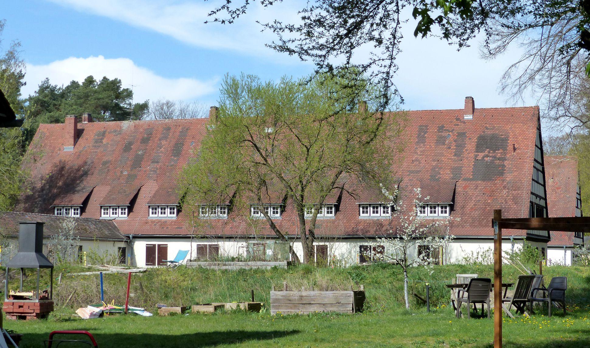 Arbeiterunterkünfte (heute August-Meier-Siedlung) ehemalige Arbeiterunterkünfte, Seitenansicht