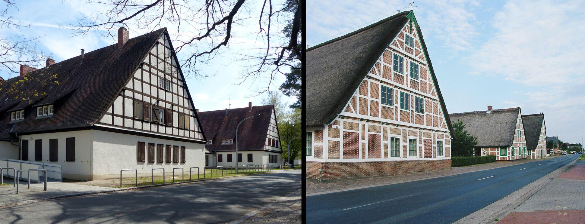 Arbeiterunterkünfte (heute August-Meier-Siedlung) Gegenüberstellung Nürnberg / Jork