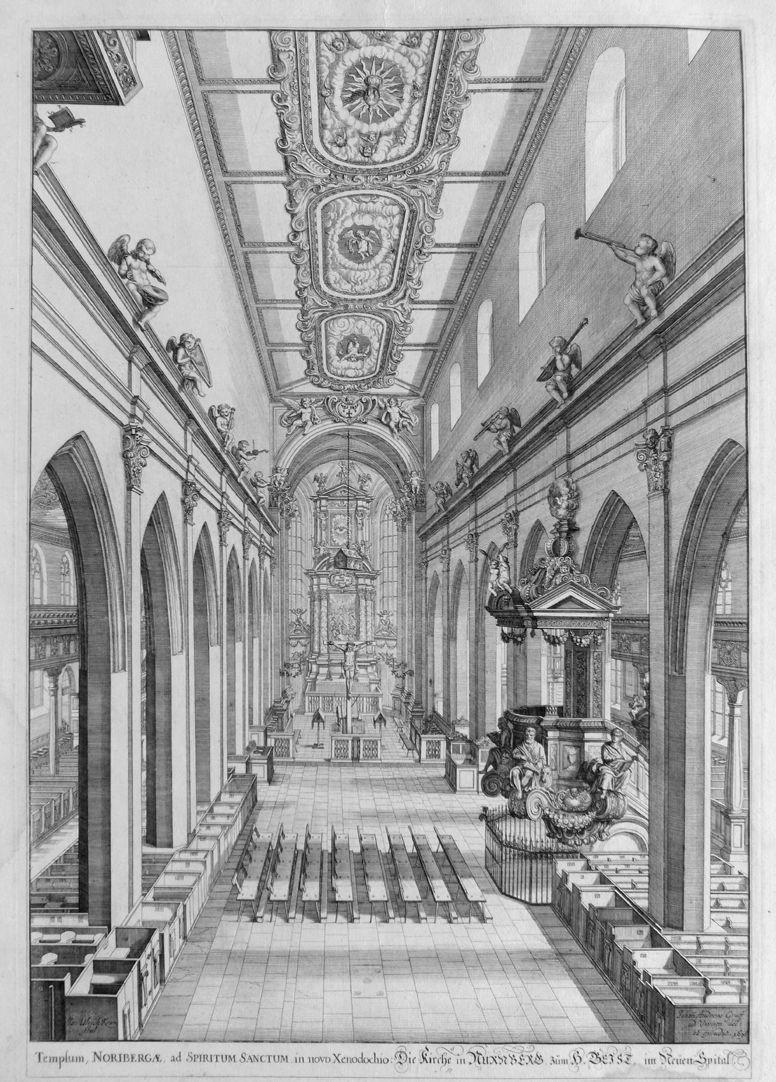 """""""Urbis Norimbergensis Insigniorum Templorum …"""" Spitalkirche"""