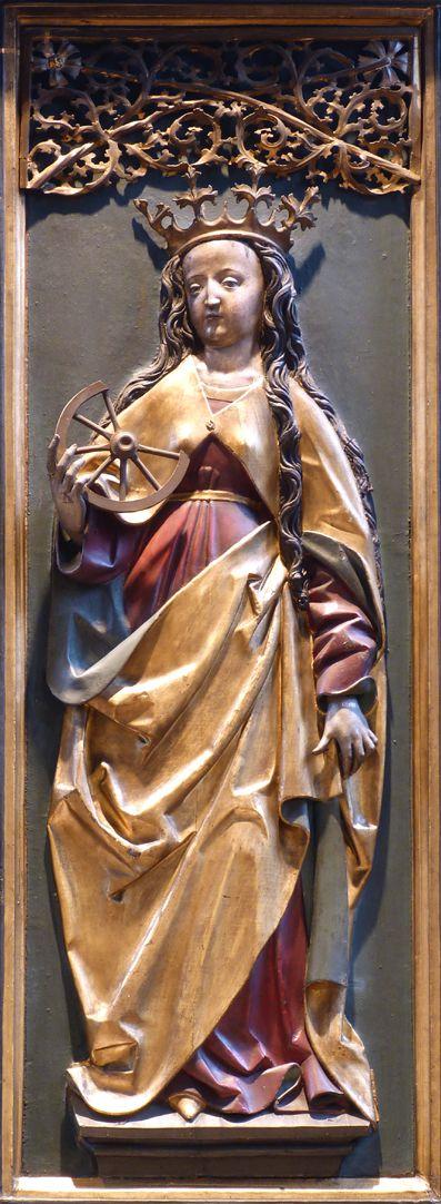 St. Bartholomäus, Hochaltar Rechte Flügelinnenseite, Katharina