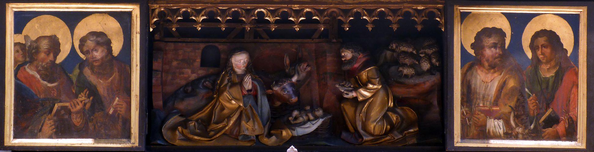 St. Bartholomäus, Hochaltar Predellaschrein mit geöffneten Flügeln