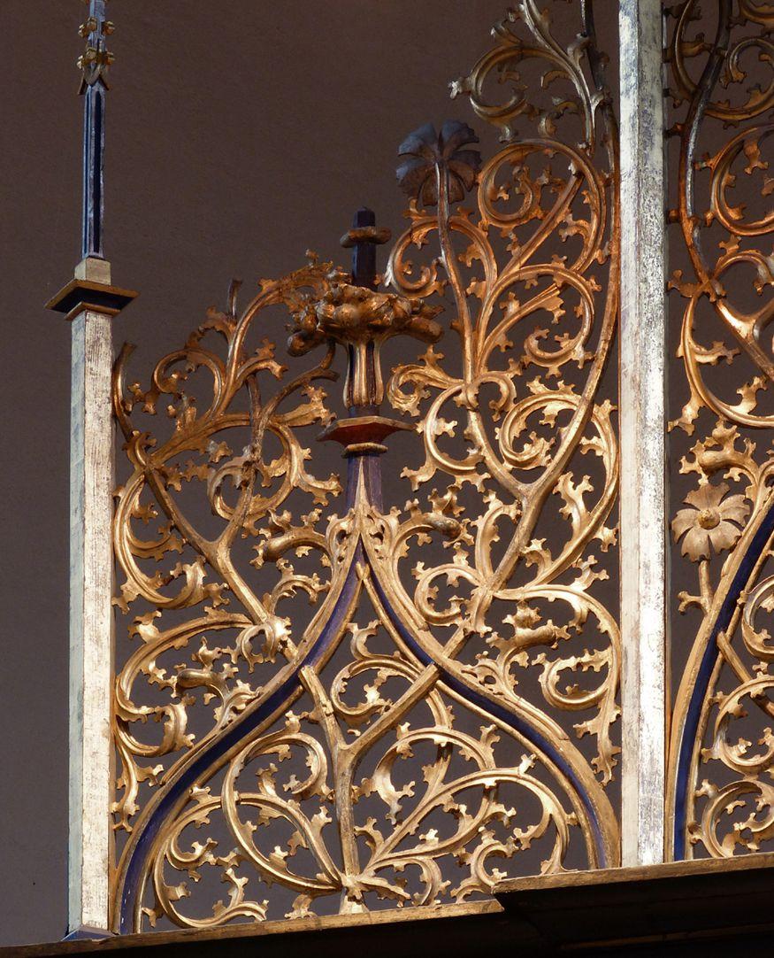 St. Bartholomäus, Hochaltar Gesprenge, Detail