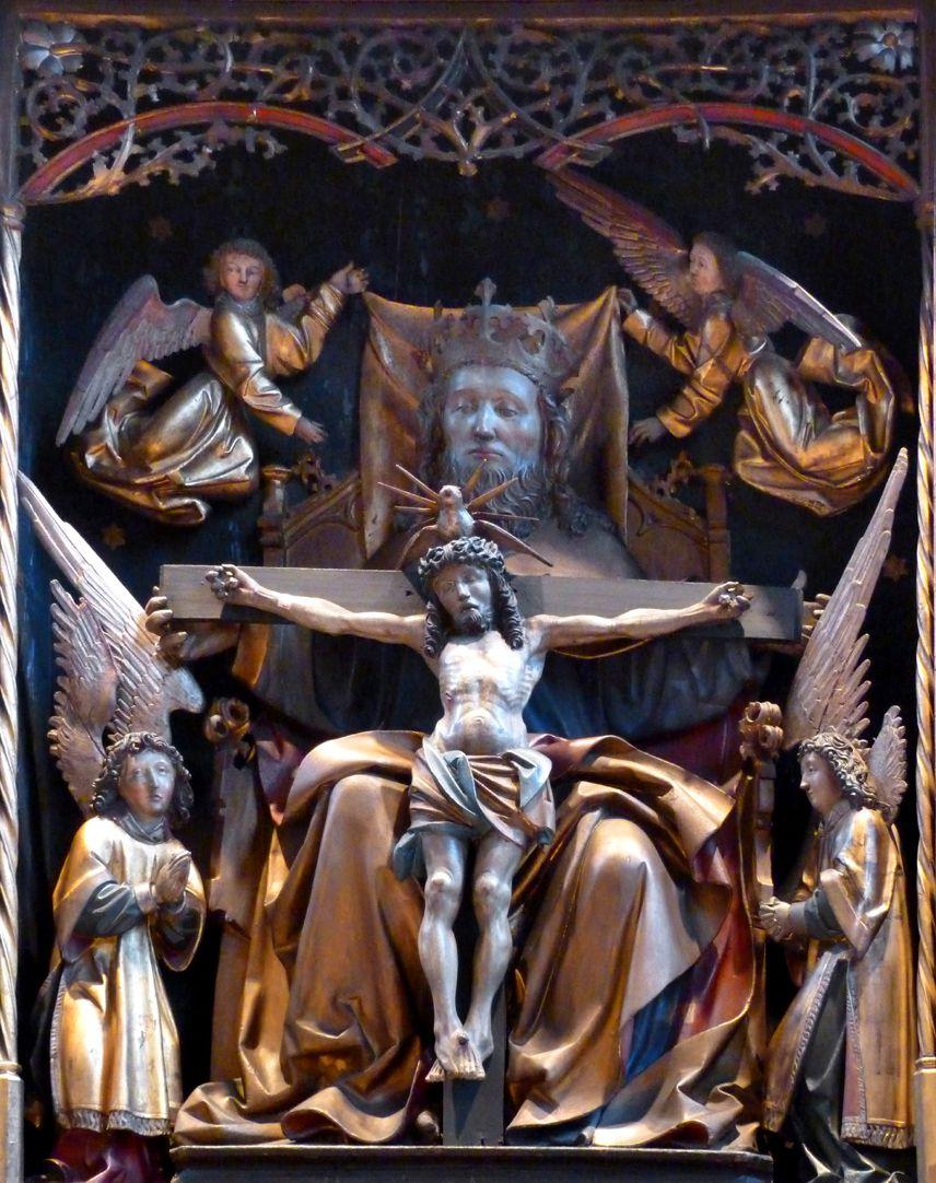 St. Bartholomäus, Hochaltar Mittelschrein, Gnadenstuhl