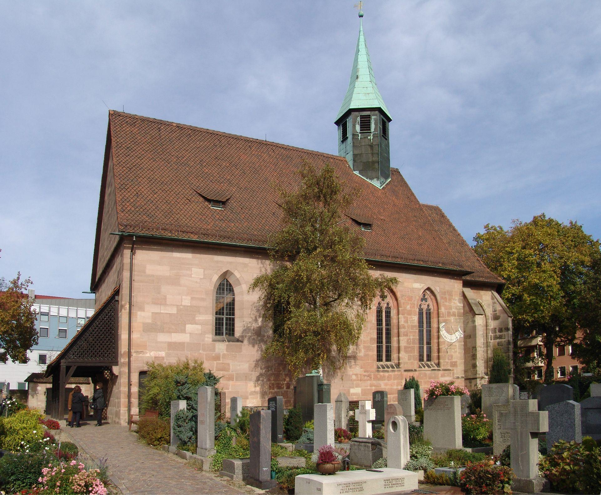 St.Jobst Kirche von SW, 1356-1891, 1948
