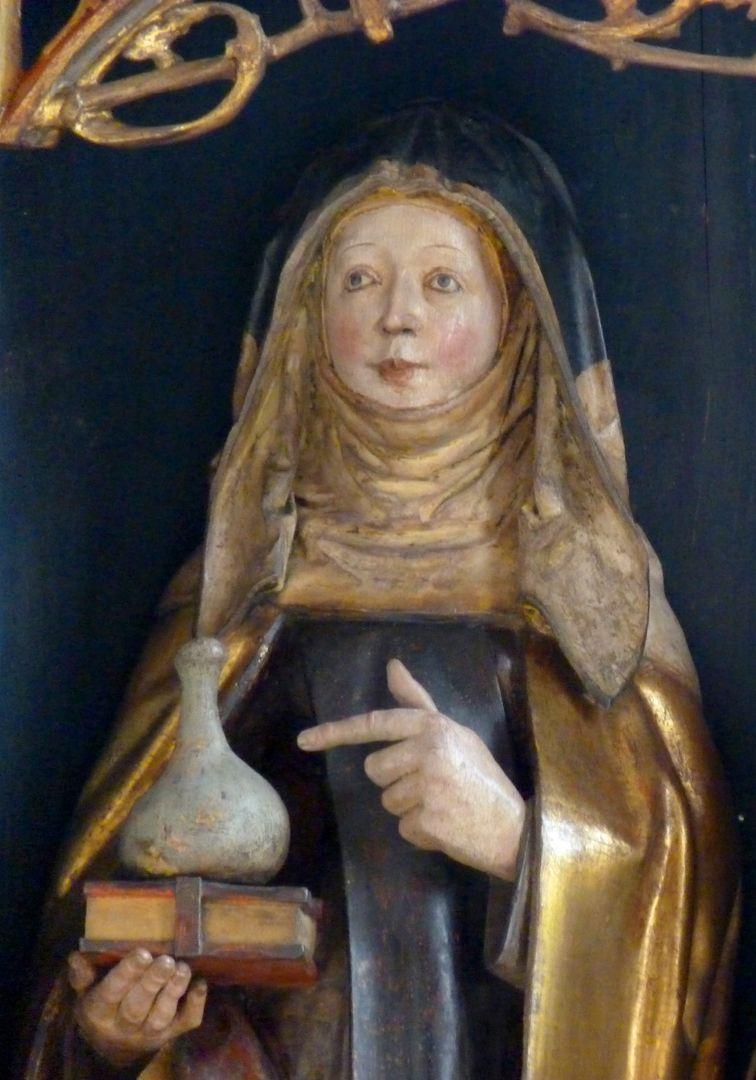 St.Jobst Ottmaraltar, Walburga, Detail, Umkreis des Veit Stoss, nach 1500