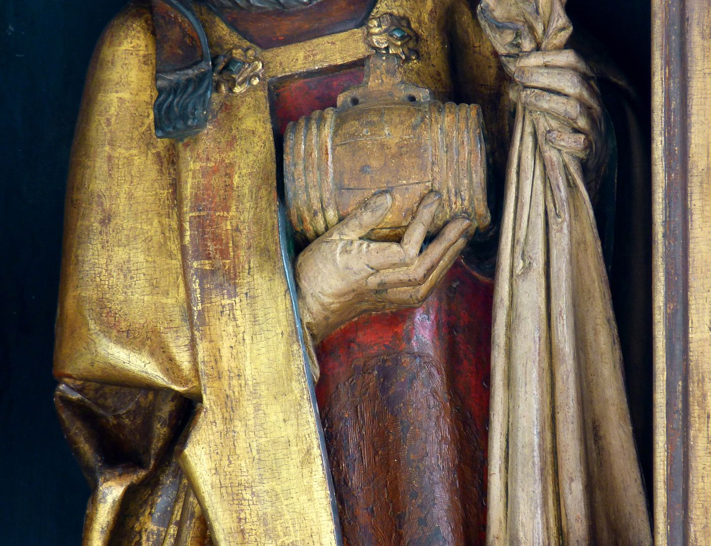 St.Jobst Ottmaraltar, Ottmar, Detail, Umkreis des Veit Stoss, nach 1500