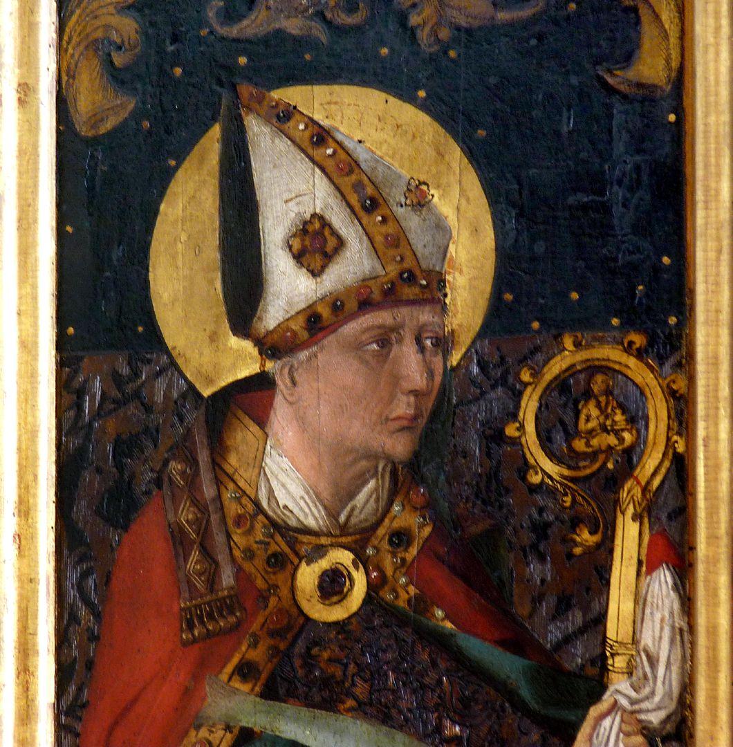 St.Jobst Ottmaraltar, linker Flügel, Heiliger Ulrich, nach 1500